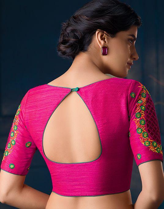 Blouse Designs For Pattu Silk Sarees (227)
