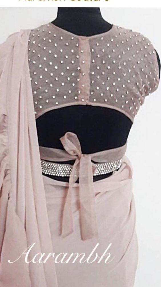 Blouse Designs For Pattu Silk Sarees (228)