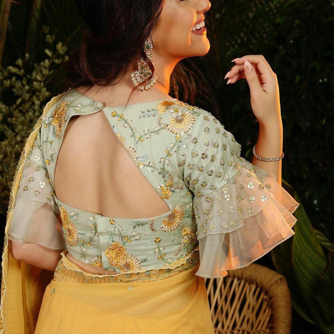 Blouse Designs For Pattu Silk Sarees (229)