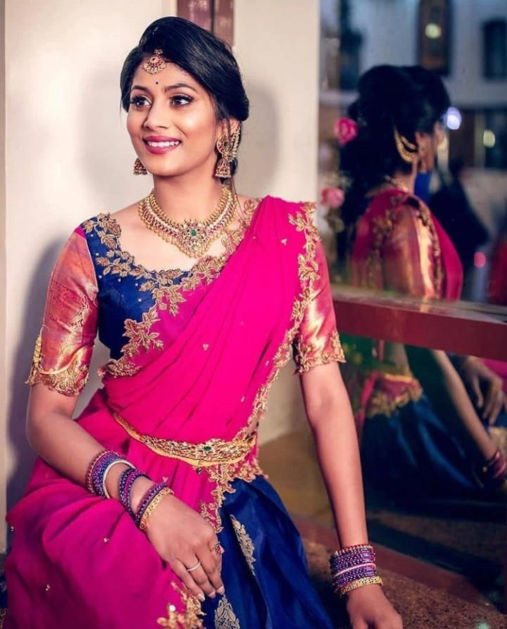 Blouse Designs For Pattu Silk Sarees (230)
