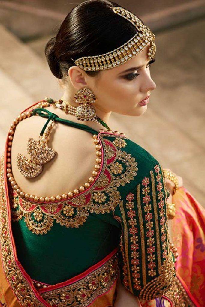 Blouse Designs For Pattu Silk Sarees (233)