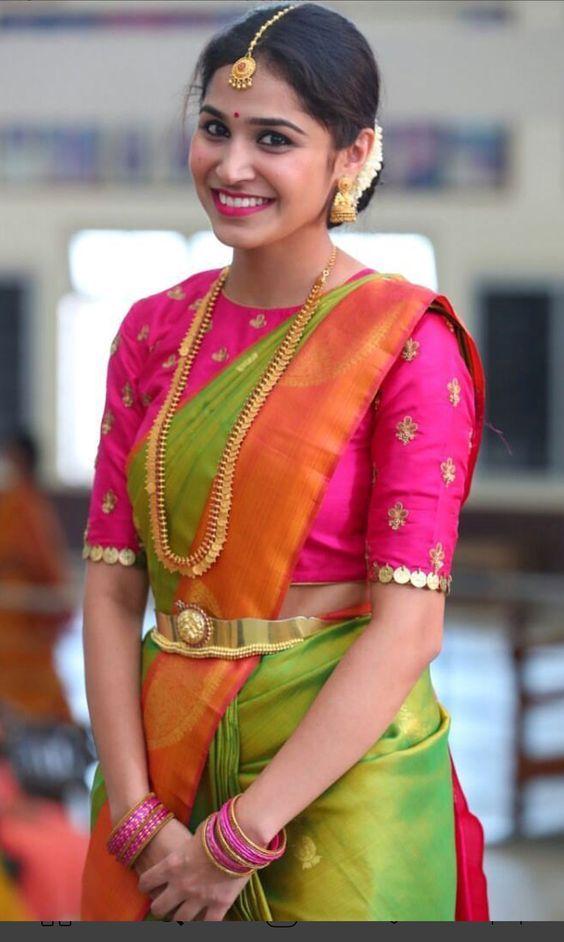 Blouse Designs For Pattu Silk Sarees (235)