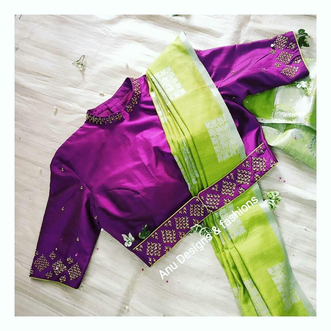 Blouse Designs For Pattu Silk Sarees (238)