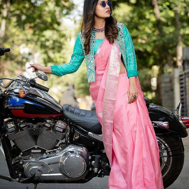 Blouse Designs For Pattu Silk Sarees (239)
