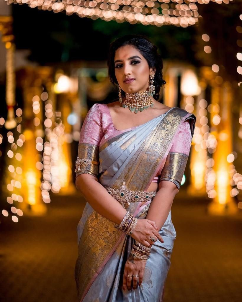 Blouse Designs For Pattu Silk Sarees (26)