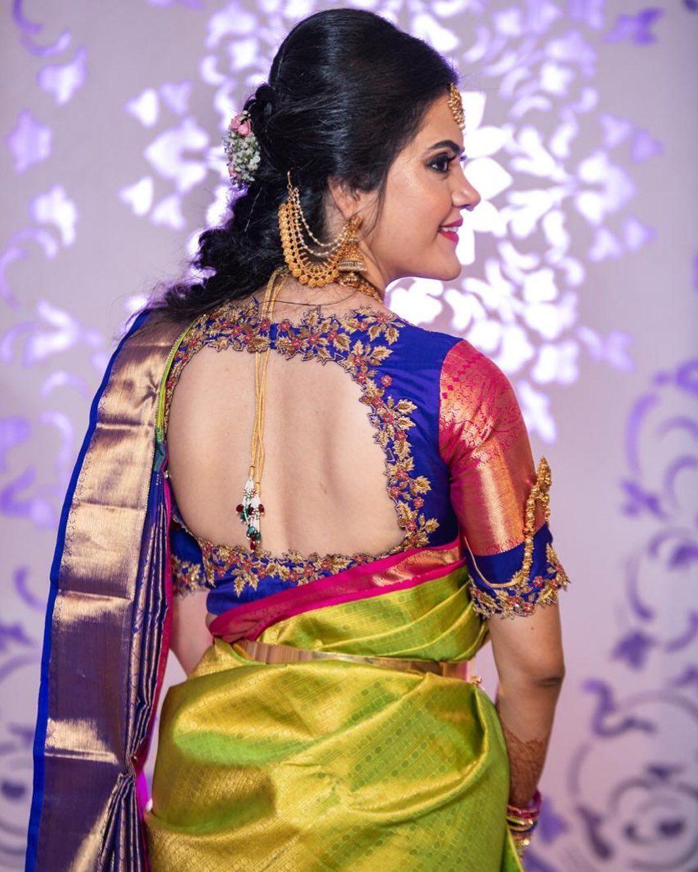 Blouse Designs For Pattu Silk Sarees (29)