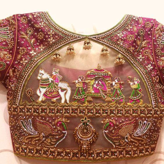 Blouse Designs For Pattu Silk Sarees (30)
