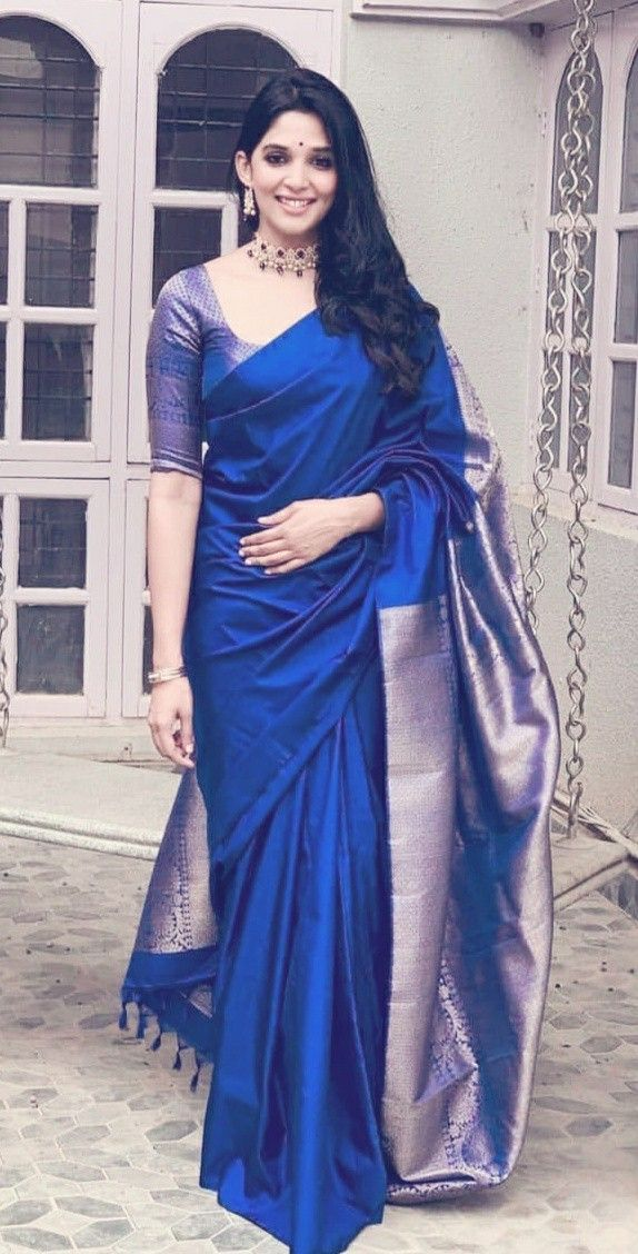 Blouse Designs For Pattu Silk Sarees (33)