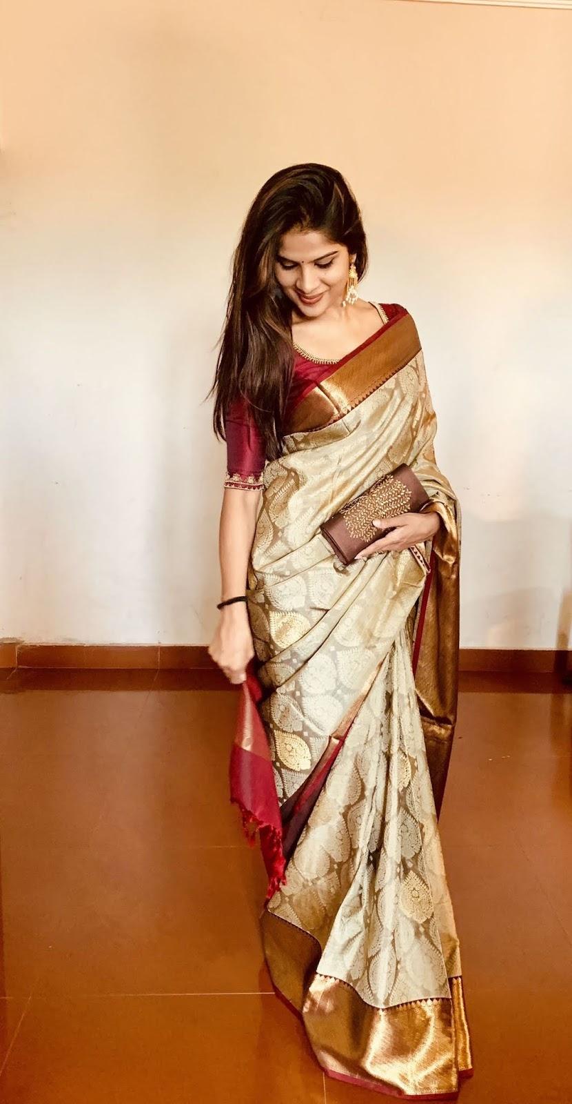 Blouse Designs For Pattu Silk Sarees (37)