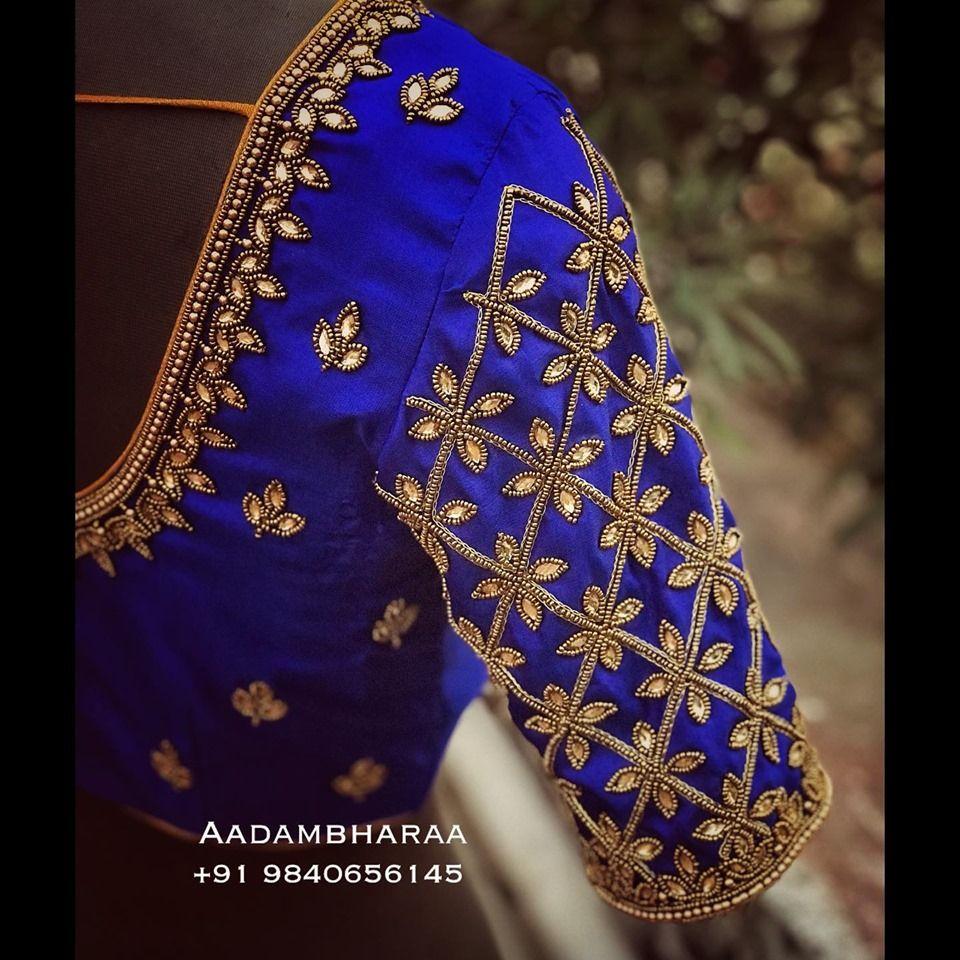 Blouse Designs For Pattu Silk Sarees (4)