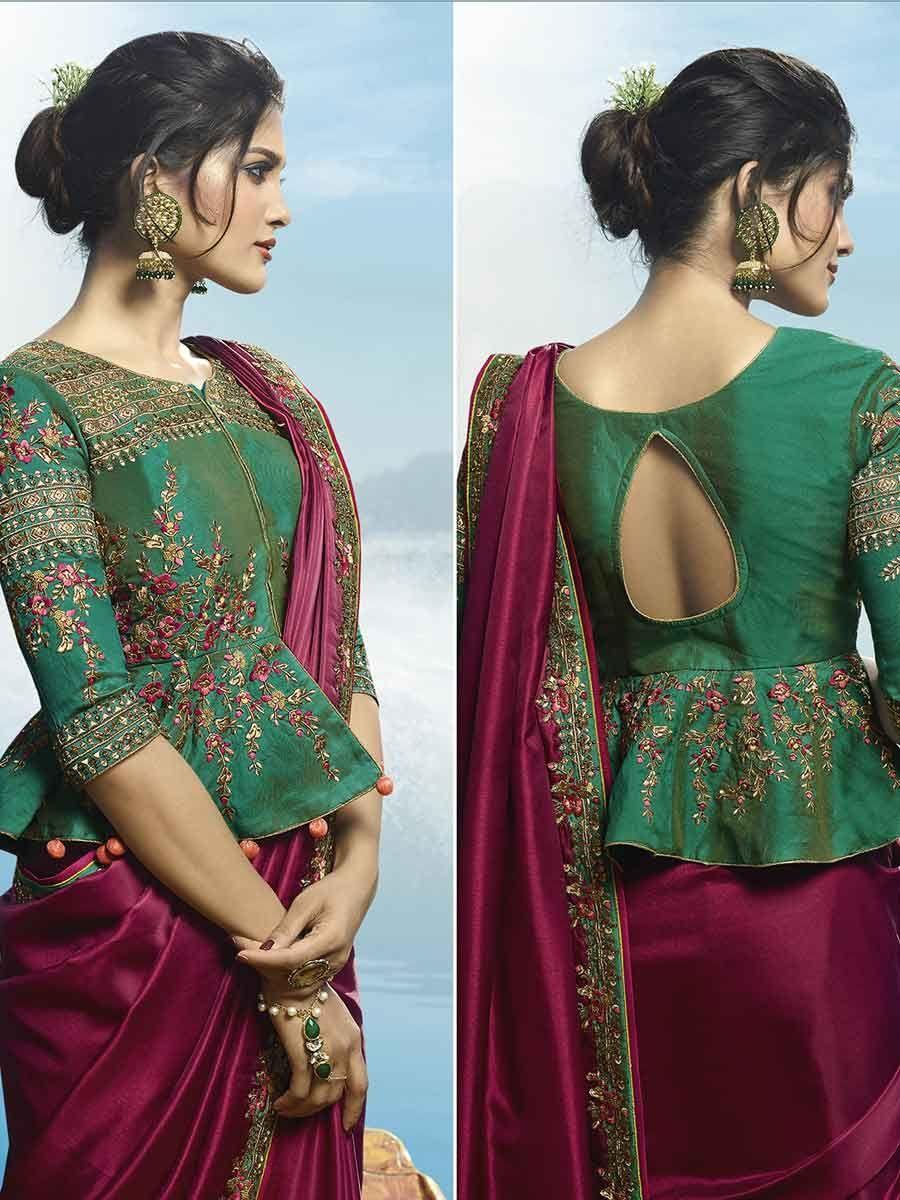 Blouse Designs For Pattu Silk Sarees (40)