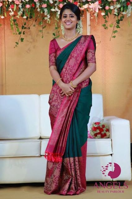 Blouse Designs For Pattu Silk Sarees (41)