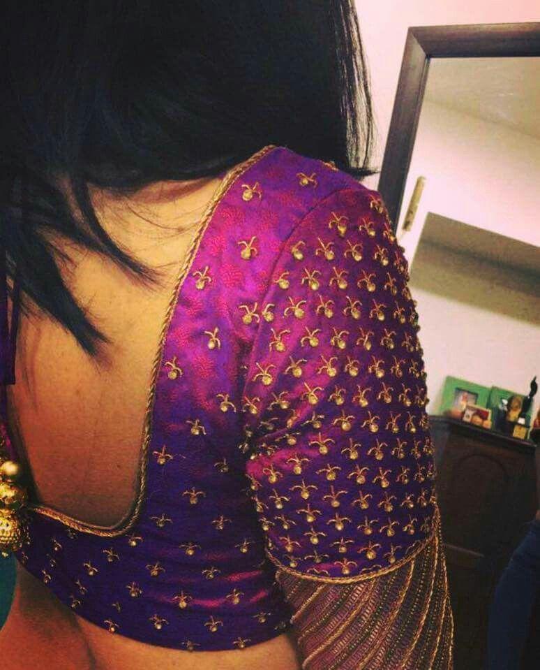Blouse Designs For Pattu Silk Sarees (44)