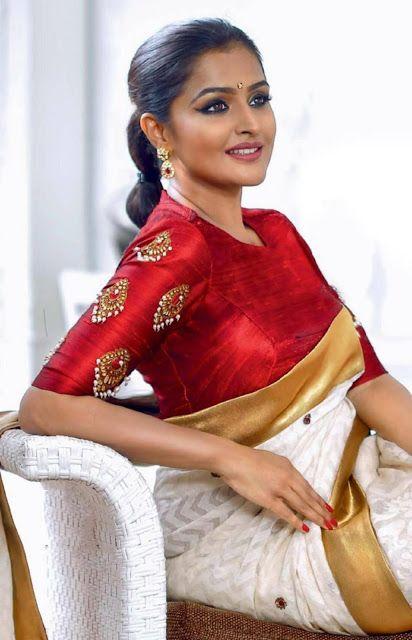 Blouse Designs For Pattu Silk Sarees (45)