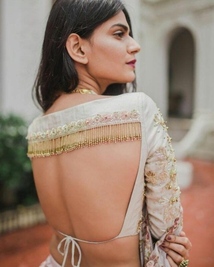Blouse Designs For Pattu Silk Sarees (46)