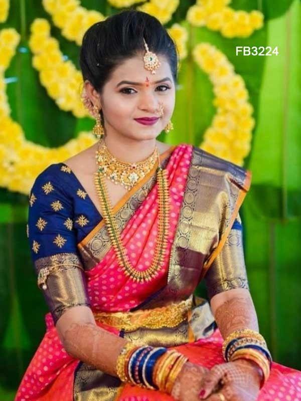 Blouse Designs For Pattu Silk Sarees (47)