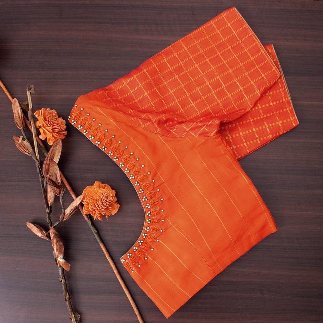 Blouse Designs For Pattu Silk Sarees (48)