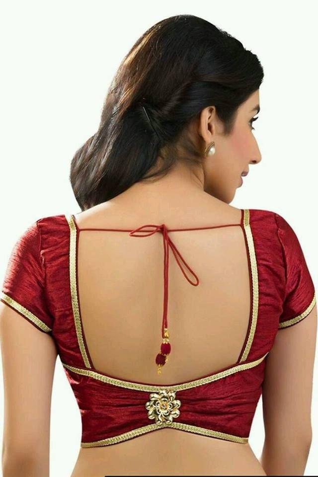 Blouse Designs For Pattu Silk Sarees (49)