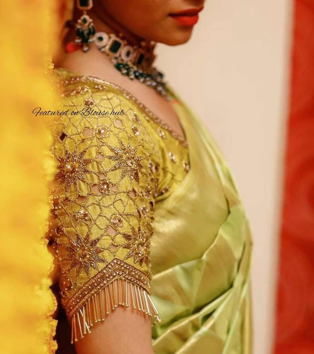 Blouse Designs For Pattu Silk Sarees (51)