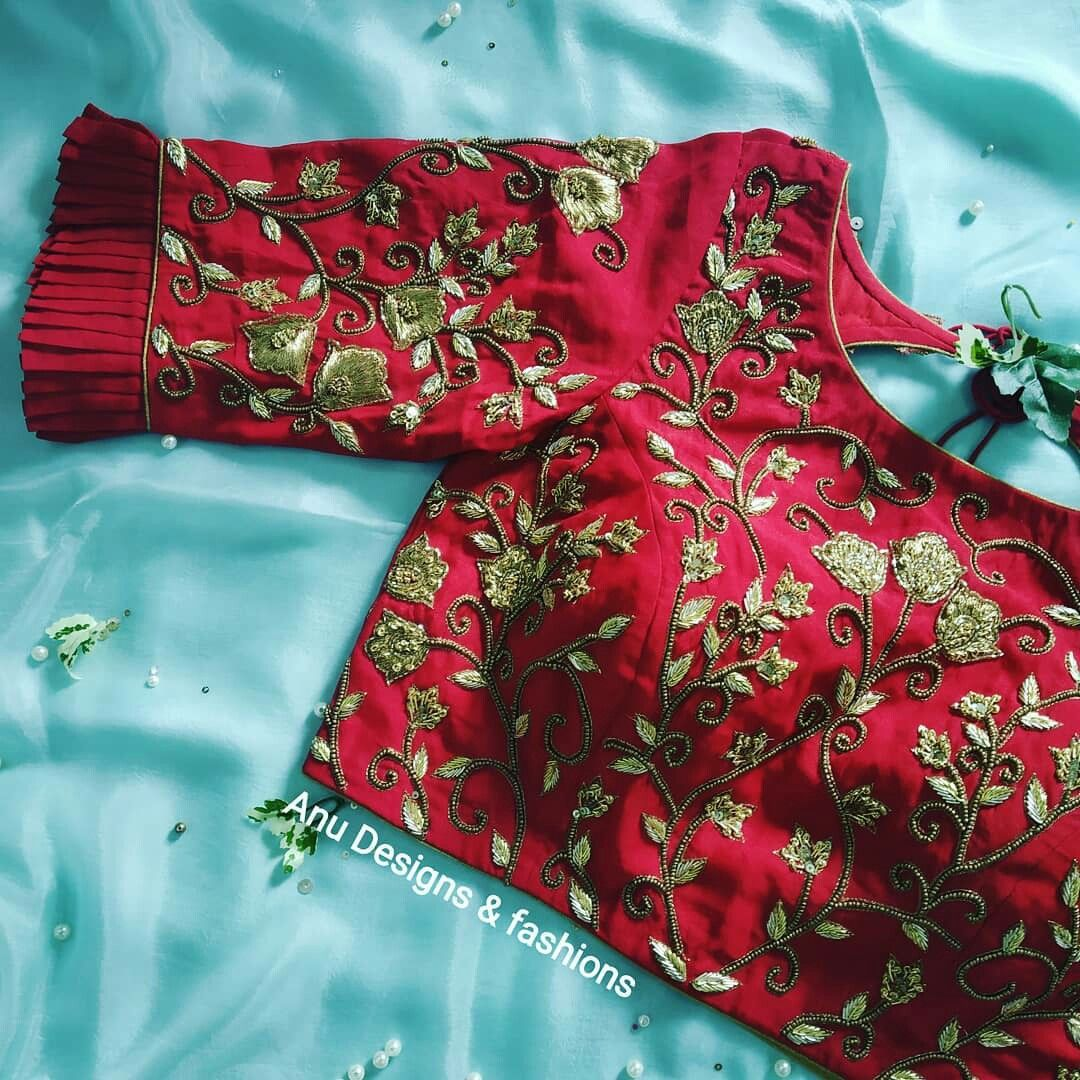 Blouse Designs For Pattu Silk Sarees (53)