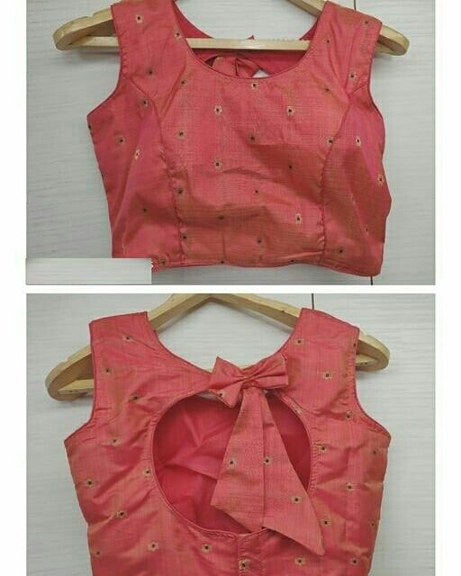 Blouse Designs For Pattu Silk Sarees (54)