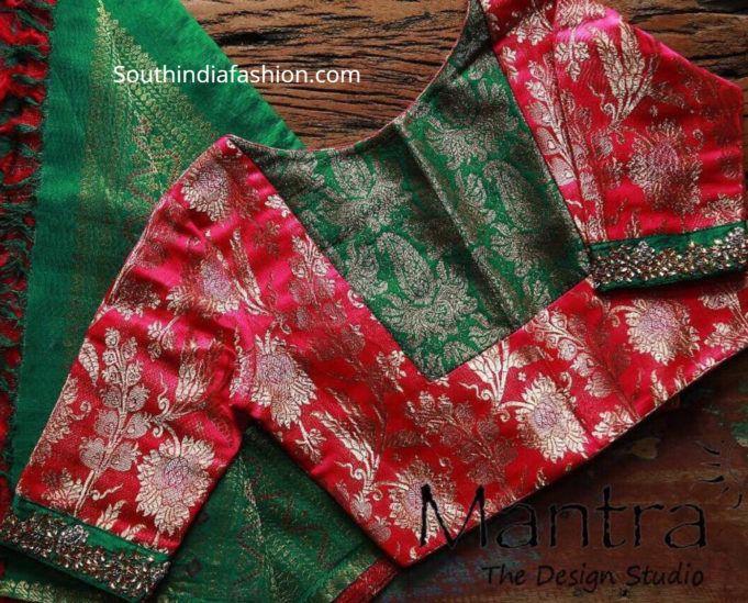 Blouse Designs For Pattu Silk Sarees (56)