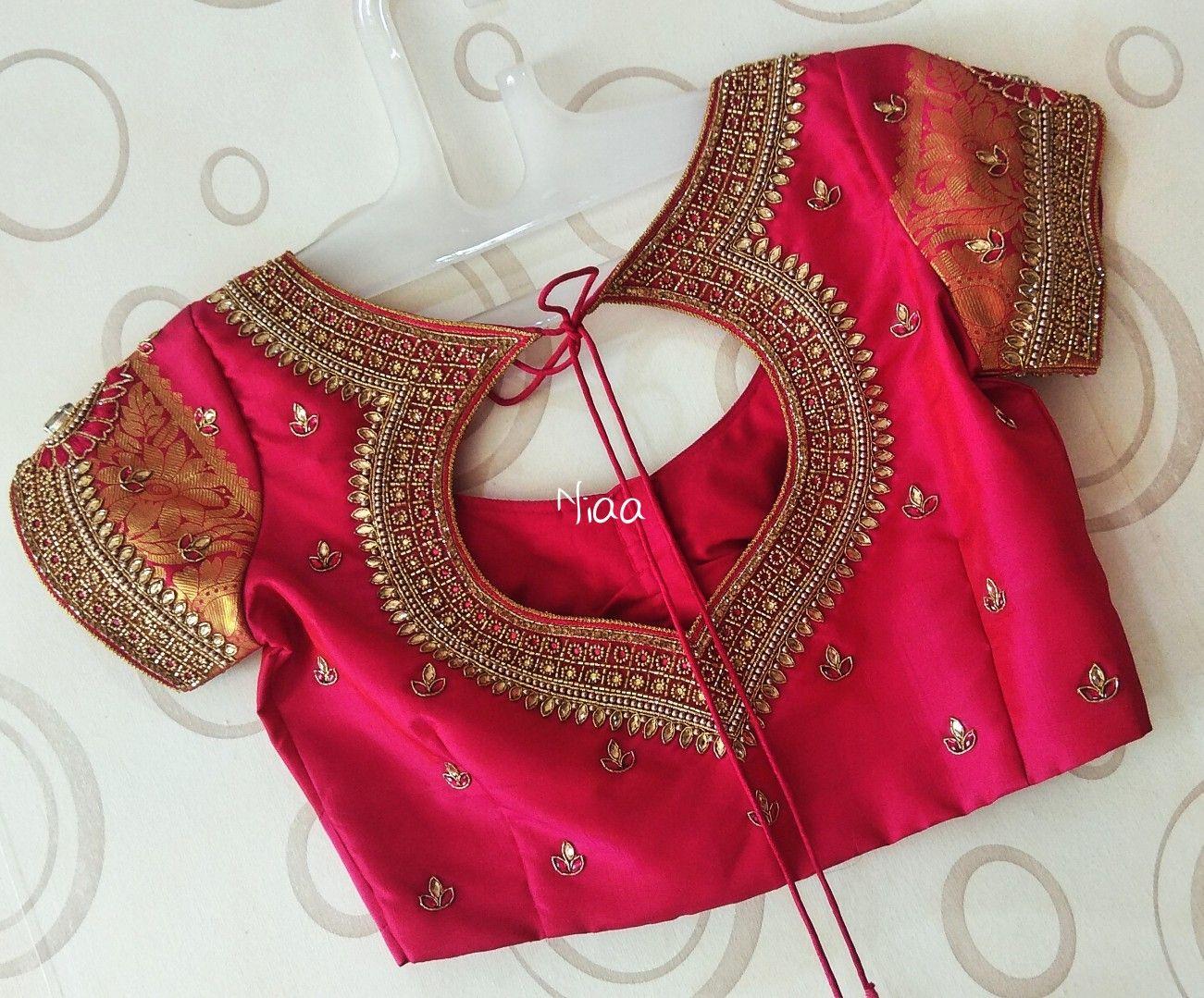 Blouse Designs For Pattu Silk Sarees (58)