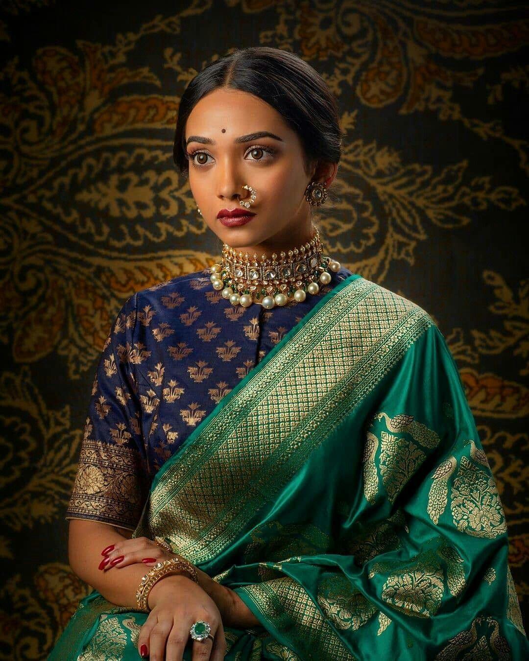 Blouse Designs For Pattu Silk Sarees (59)