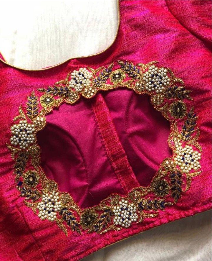Blouse Designs For Pattu Silk Sarees (62)