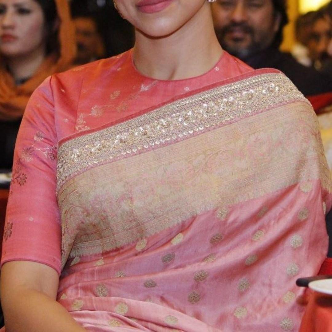 Blouse Designs For Pattu Silk Sarees (64)
