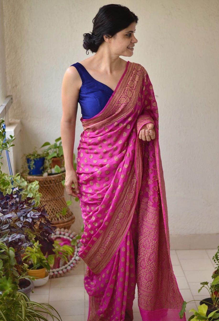 Blouse Designs For Pattu Silk Sarees (65)