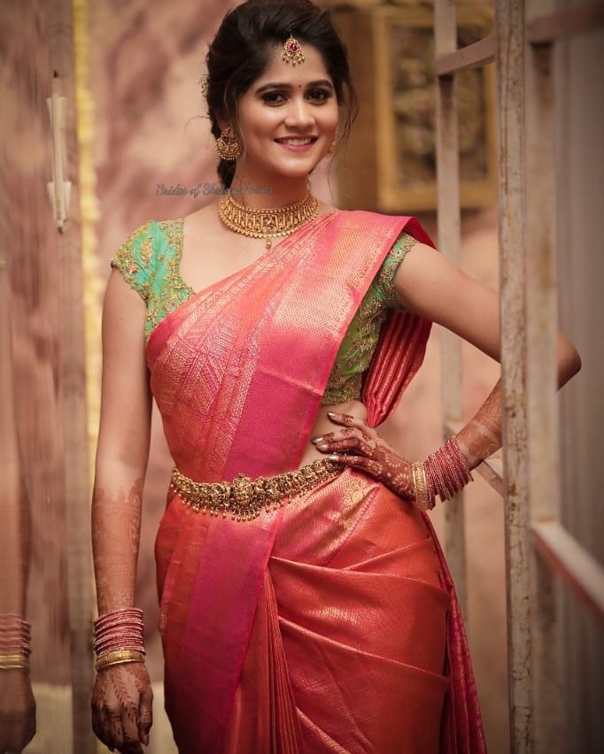 Blouse Designs For Pattu Silk Sarees (68)
