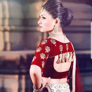 Blouse Designs For Pattu Silk Sarees (73)