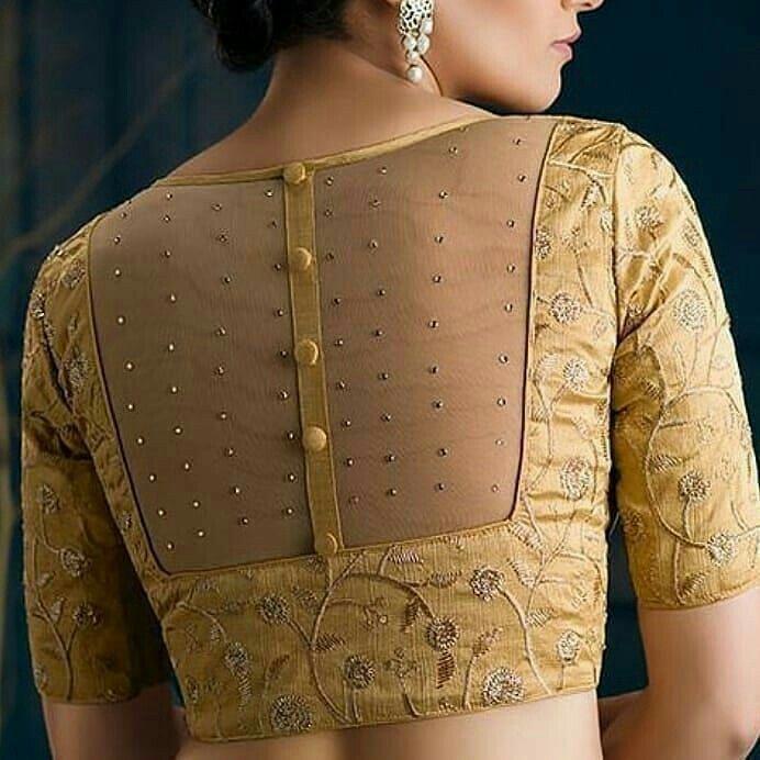 Blouse Designs For Pattu Silk Sarees (74)