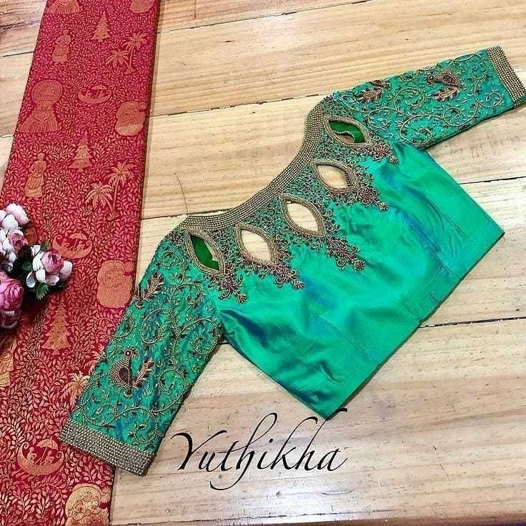Blouse Designs For Pattu Silk Sarees (75)