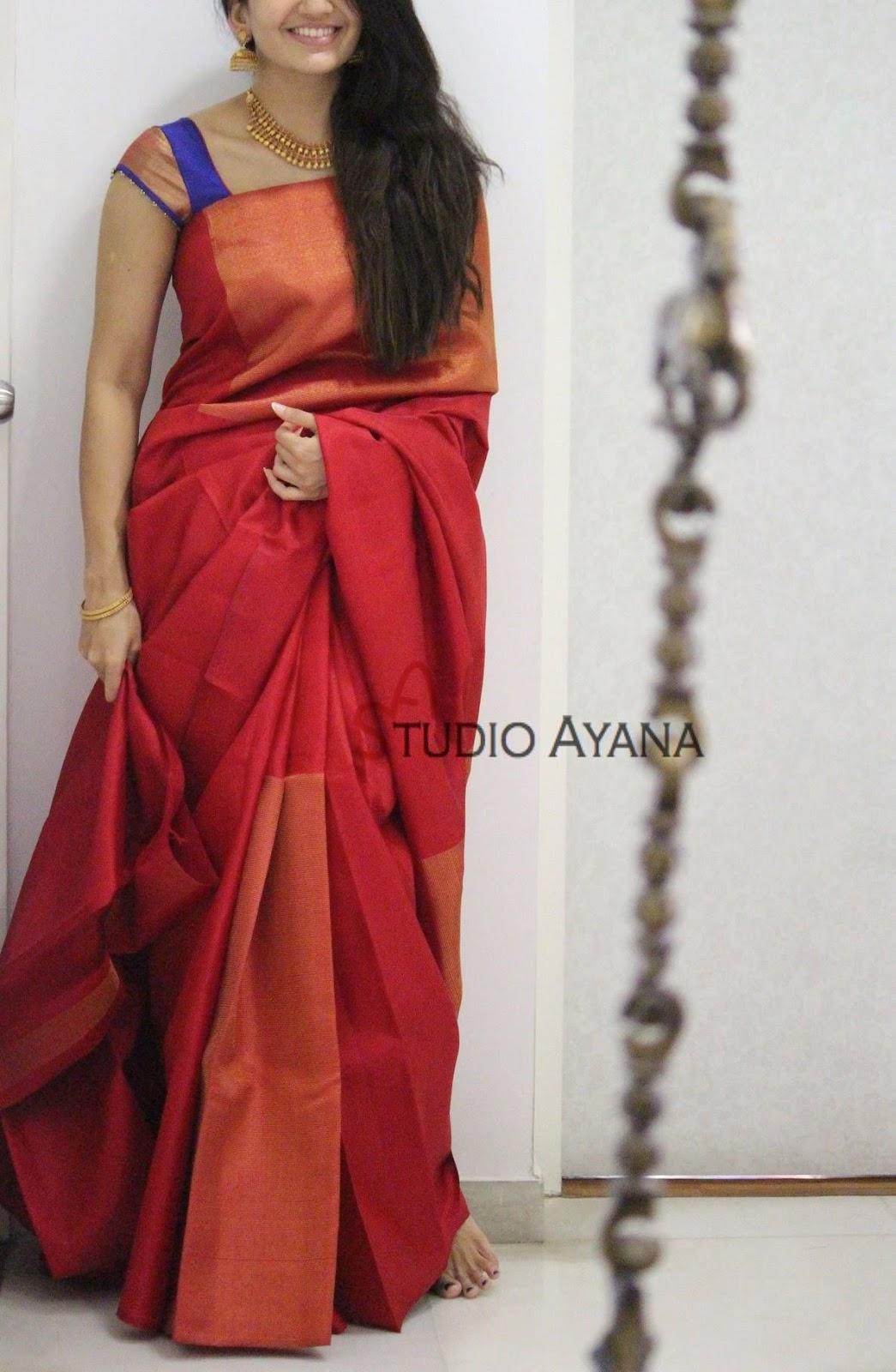 Blouse Designs For Pattu Silk Sarees (77)
