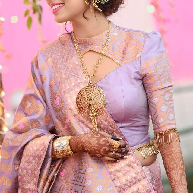 Blouse Designs For Pattu Silk Sarees (78)
