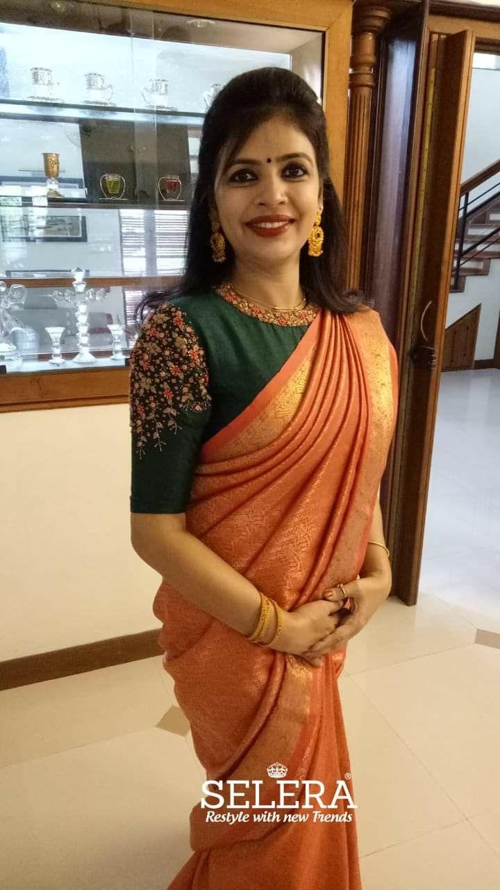 Blouse Designs For Pattu Silk Sarees (79)