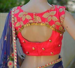 Blouse Designs For Pattu Silk Sarees (8)