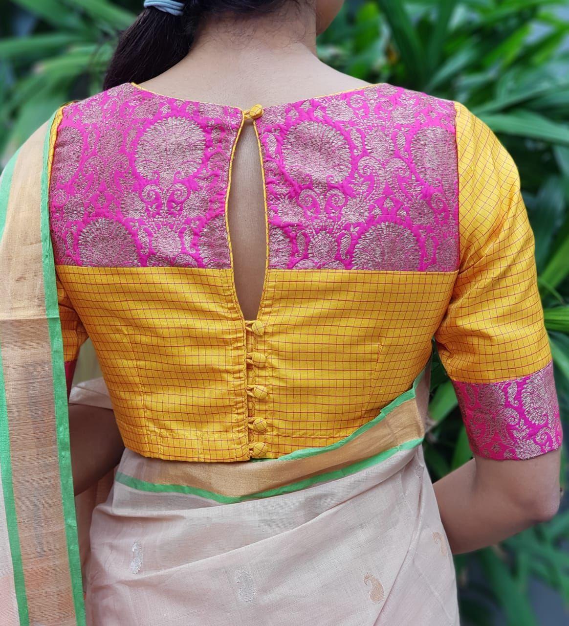 Blouse Designs For Pattu Silk Sarees (80)
