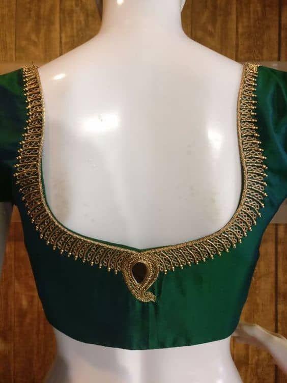 Blouse Designs For Pattu Silk Sarees (86)