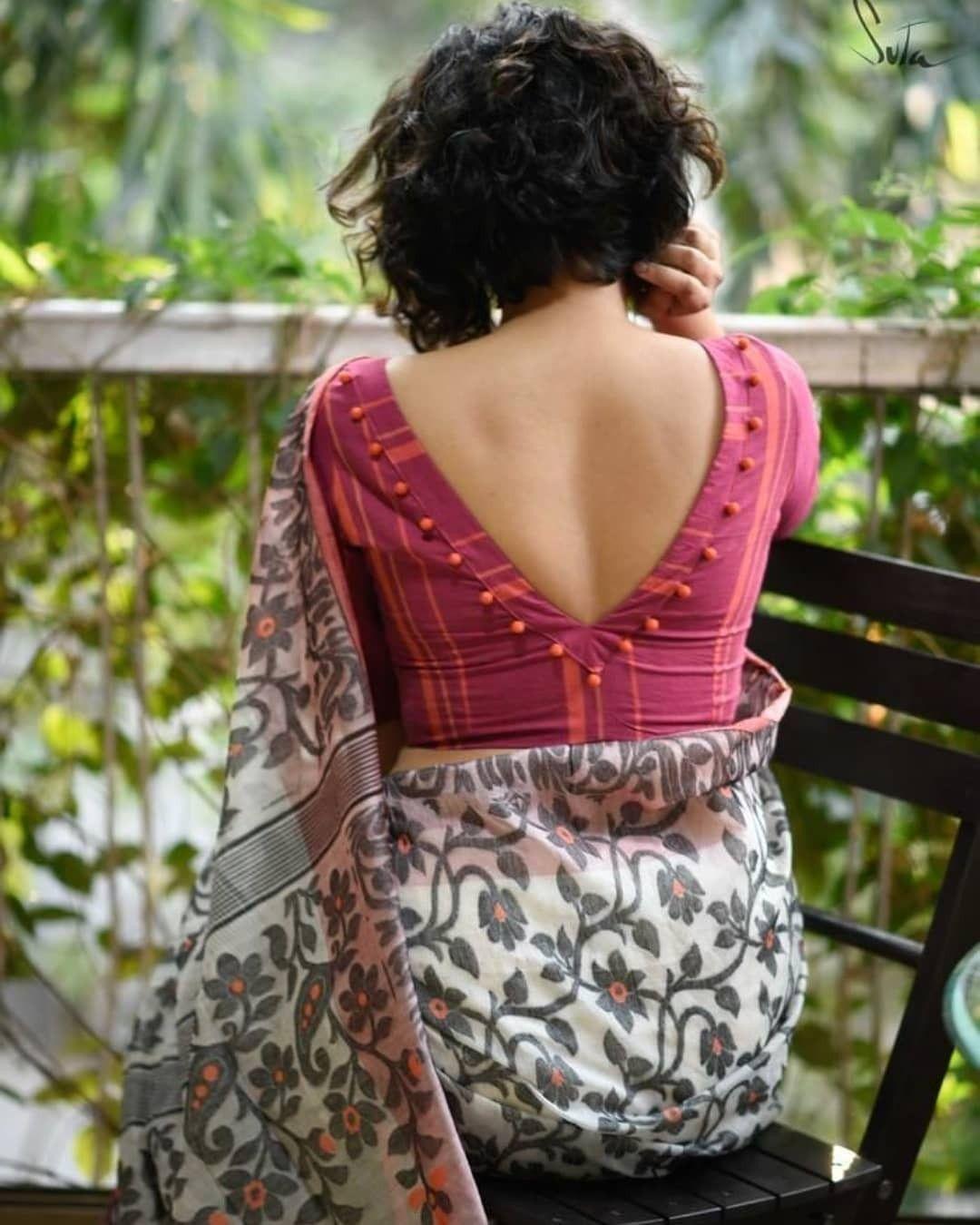 Blouse Designs For Pattu Silk Sarees (87)