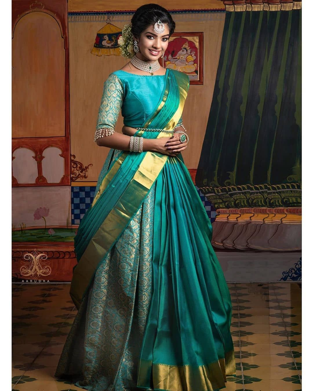 Blouse Designs For Pattu Silk Sarees (88)