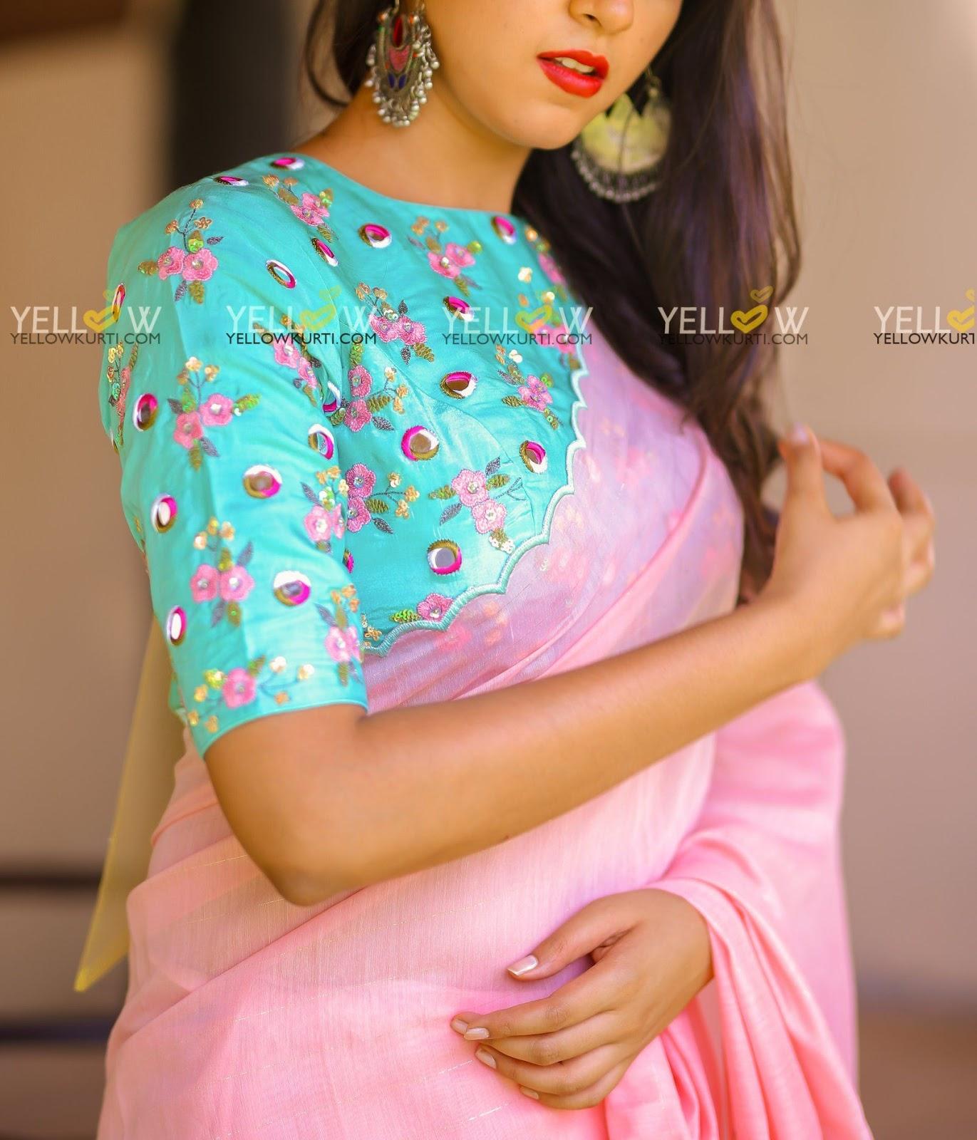Blouse Designs For Pattu Silk Sarees (9)