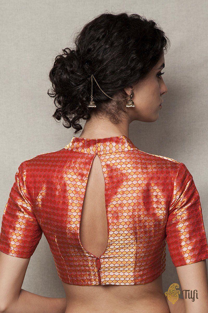 Blouse Designs For Pattu Silk Sarees (90)