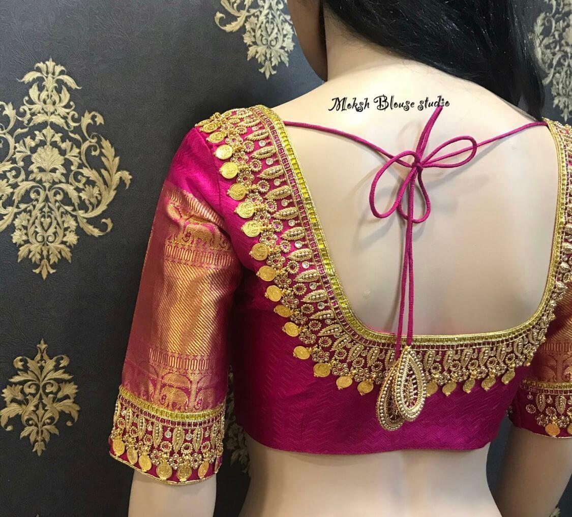 Blouse Designs For Pattu Silk Sarees (93)