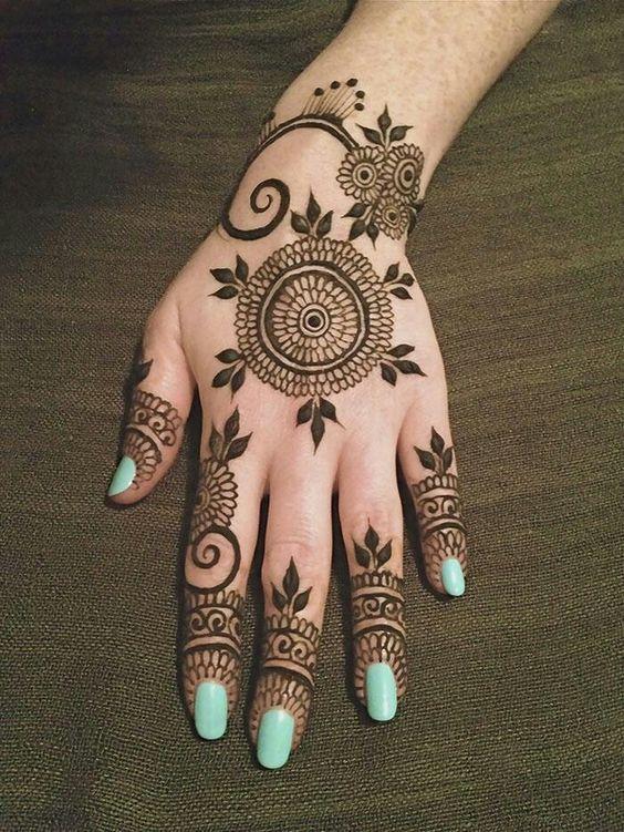 Easy Mehndi Designs Simple Latest (13)
