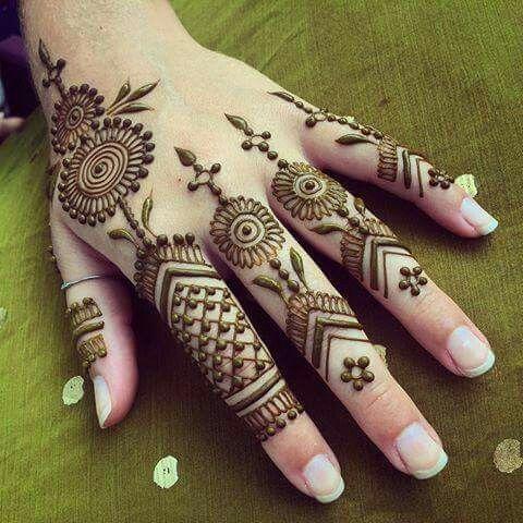 left hand mehndi design back side