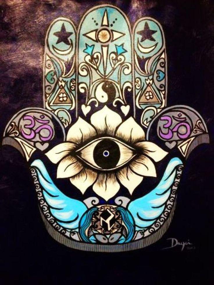 Hamsa Hand Tattoo Designs (10)