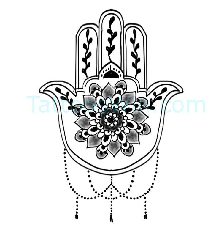 Hamsa Hand Tattoo Designs (100)